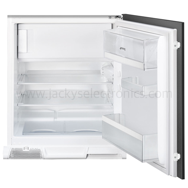 Smeg Under Mount Upright Fridge/Freezer Built In, Static, 82-87cm, White, Energy A+ (U3C080P1)