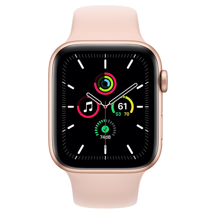 Apple Watch SE GPS 44mm Gold Aluminium Case with Pink Sand Sport Band - Regular MYDR2AE/A 2020