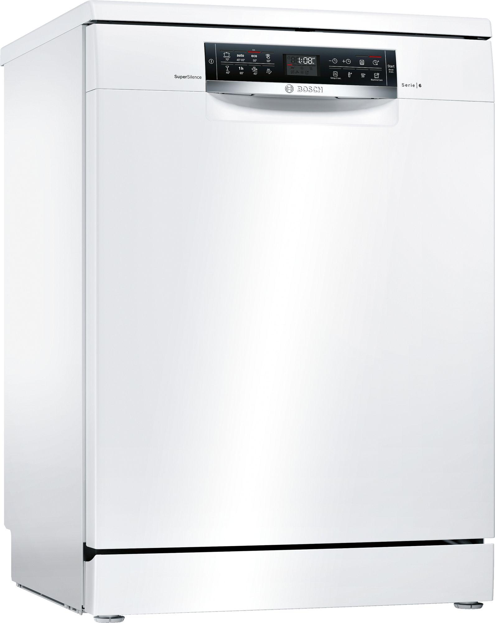 Bosch 6 free-standing dishwasher 60 cm White SMS68TW20M
