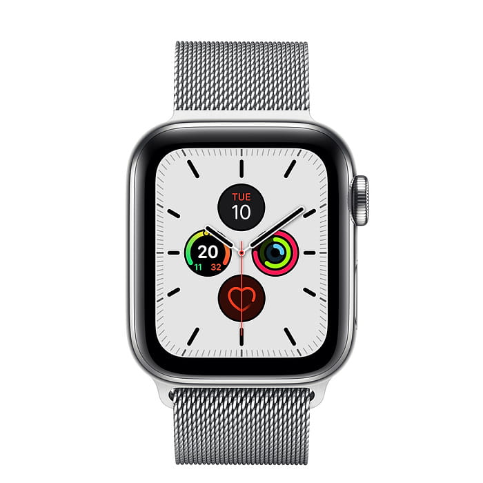 Apple Watch Series 5 GPS + Cellular, 40mm Stainless Steel Case with Stainless Steel Milanese Loop (APPLE WATCH S5 40 P SS MIL LP CEL-AMU) - PRE-BOOKING ONLY