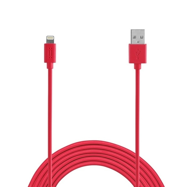 AIINO LIGHTNING TO USB CABLE 1.2M-RED (AICLTNGMFI-RD)