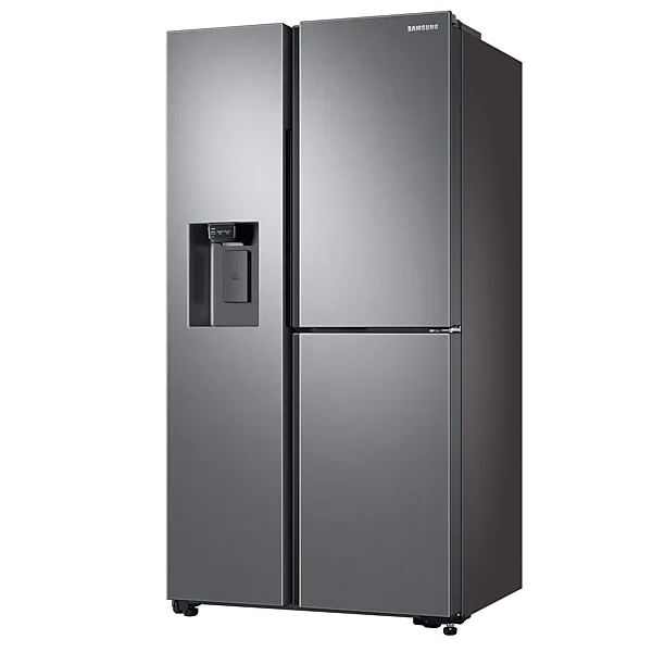 Samsung Side By Side Refrigerator 650 Liters, Icemaker, FinishEasy clean steel. (RS65R5691SL)