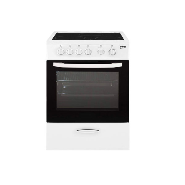 Beko 50cm Cooking range, Ceramic 4 Zones & Electric Oven, Electric Grill, Made in Turkey (CSS 48100 GW)