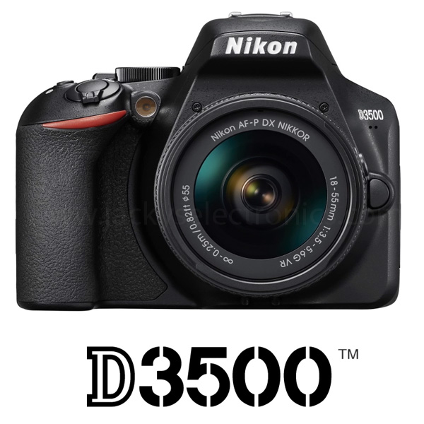 Nikon D3500 + AF-P 18-55 VR Kit D3500 With 16GB Card and Carry Case