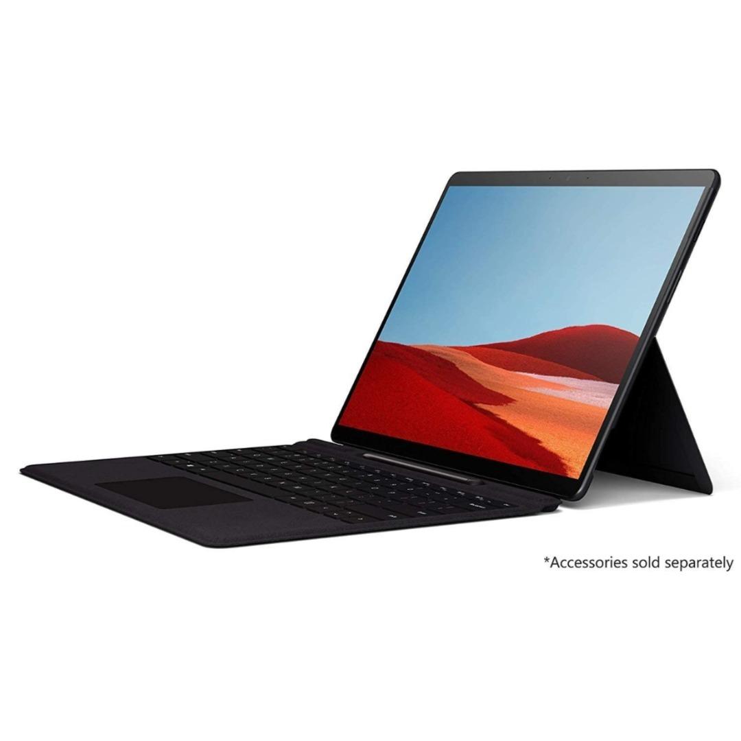 Microsoft Surface Pro X (QFM-00005) 2-in-1 Laptop, Microsoft-SQ1-3GHz Processor, 13 Inch, 256GB SSD, 16GB RAM, Microsoft SQ1 Adreno 685 GPU, WiFi+4G LTE, Win10, No KB, Black