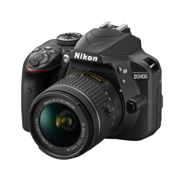 Nikon D3400 with AF-P 18-55 VR Kit (D3400-G)