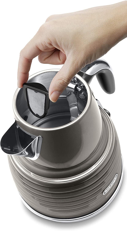 De'Longhi Scultura Kettle, Grey, 1.5 litre, KBZ3001.BG