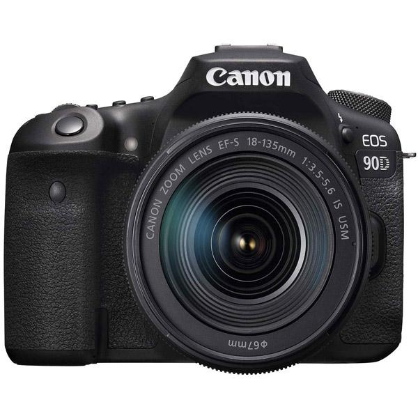 Canon EOS 90D Digital SLR Camera With 18-135 IS USM Lens (EOS3616C016-90D-EC)