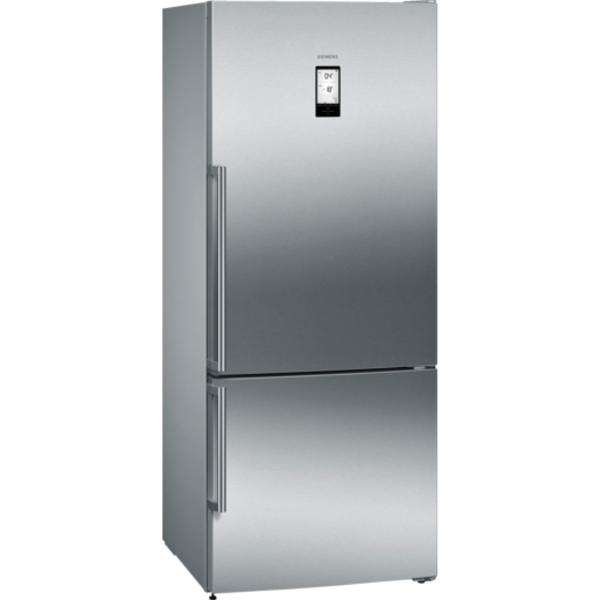 Siemens iQ500 noFrost, Bottom freezer Door color Inox-easyclean (KG76NAI30M)