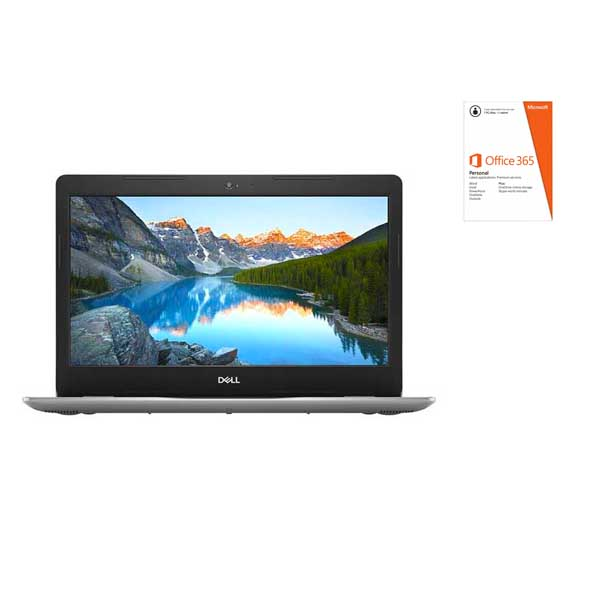 """Dell Inspiron 14 3481 i3 4GB, 128GB 14"""" Laptop, Silver (3481-INS-1341-SLR) Pre-loaded MS Office 365"""