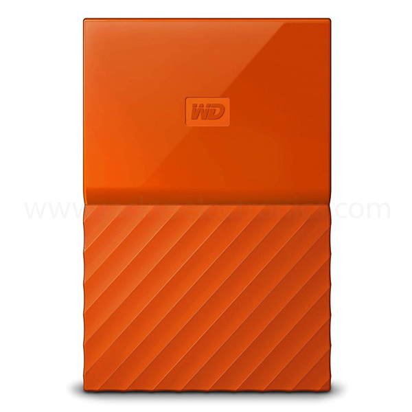 WD 2TB Orange My Passport Portable External Hard Drive - USB 3.0 - WDBS4B0020BOR-WESN