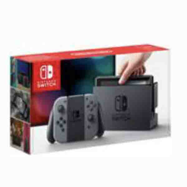 NINTENDO SWITCH GREY JOY-CON CONSOLE + 1 GAME + ACCESSORY (HWSW-427061)