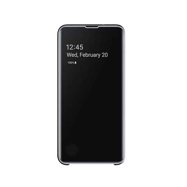 SAMSUNG S10E CLEAR VIEW COVER - BLK (EF-ZG970CBEGWW)