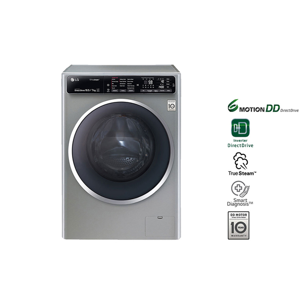 LG Washer Dryer with LED Touch Panel, Stainless Silver (FH4U1JBHK6N)