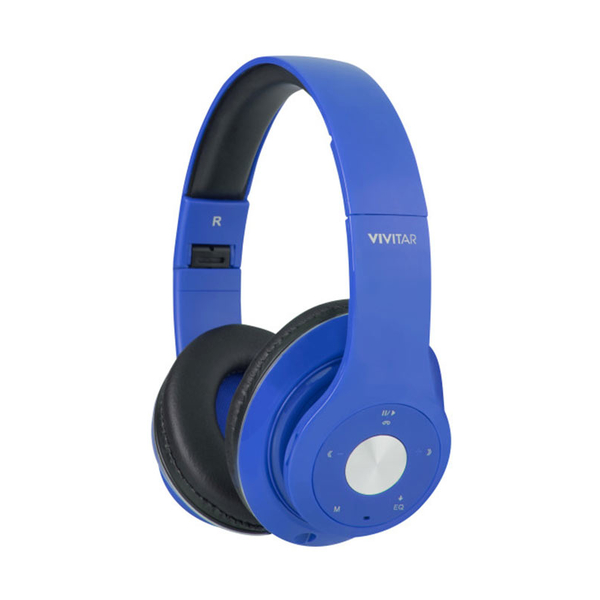 VIVITAR BLUETOTH HEADPHONE SOFT PAD-BLUE (SIIVIVV50012BTBLU)
