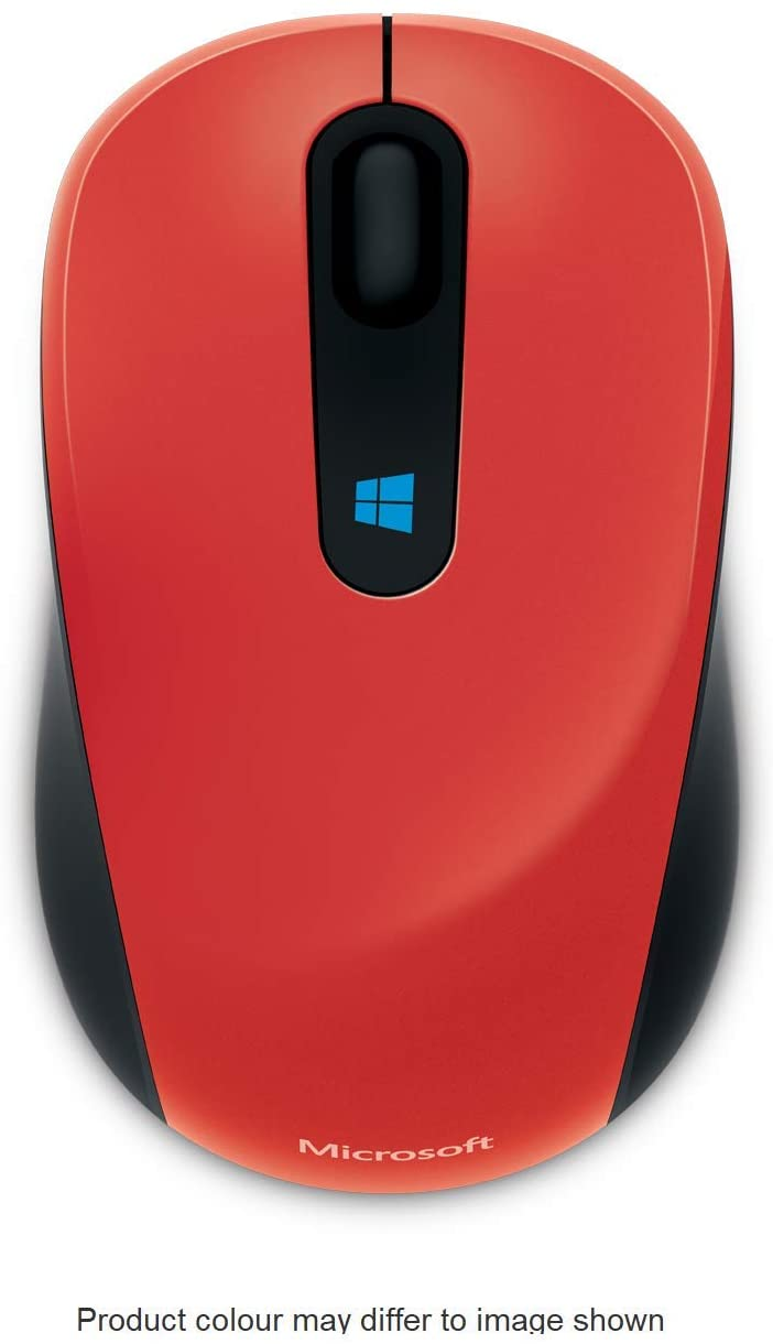 Microsoft 43U-00026 Wireless Blue Track Technology Sculpt Mobile Mouse - Flame Red