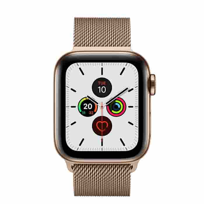Apple Watch Series 5 GPS + Cellular, 40mm Gold Stainless Steel Case with Gold Milanese Loop (APPLE WATCH S5 40 GOLD SS MIL LP CEL-AMU)