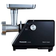 Panasonic 3500 W Meat grinder, Dial switch - 2 speed control w/ Reverse Function, 3 Types of Blades (Rough/Mid/Fine) and 2 attachments, cleaning tool, Made in Japan (MKZJ3500)