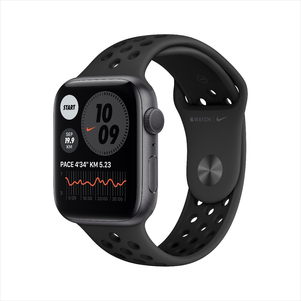 Apple Watch Nike Series 6 GPS, 40mm Space Gray Aluminium Case with Anthracite/Black Nike Sport Band M00X3AE/A