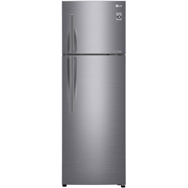 LG 430 Liters Top Mount Refrigerator with Linear Inverter Compressor, Shiny Steel - GR-C432RLCN (LIMITED STOCKS)