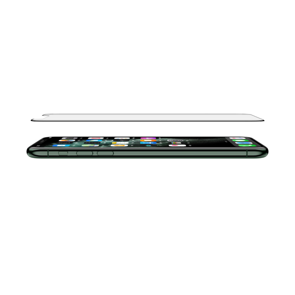 """BELKIN SCREENFORCE™ TRANSPARENT INVISIGLASS CURVED (E2E) FOR IPHONE 11/ XR (6.1"""") WITH EZ TRAY INSTALLATION F8W945zzBLK"""