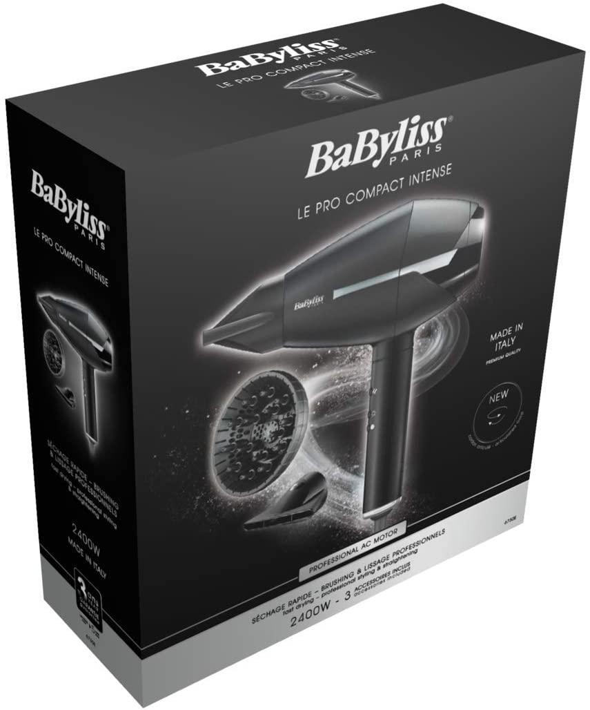 BaByliss Hair Dryer, 2400W - Black/Silver BAB6730SDE