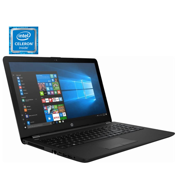HP Laptop Celeron 1.6GHz, 4GB RAM,500GB HDD, Shared Win10 15.6inch HD Black (15-RA006NE)