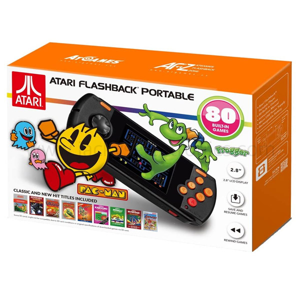 ATARI FLASHBACK PORTABLE W/ 80 BUILT-IN GAMES (AP3280B)