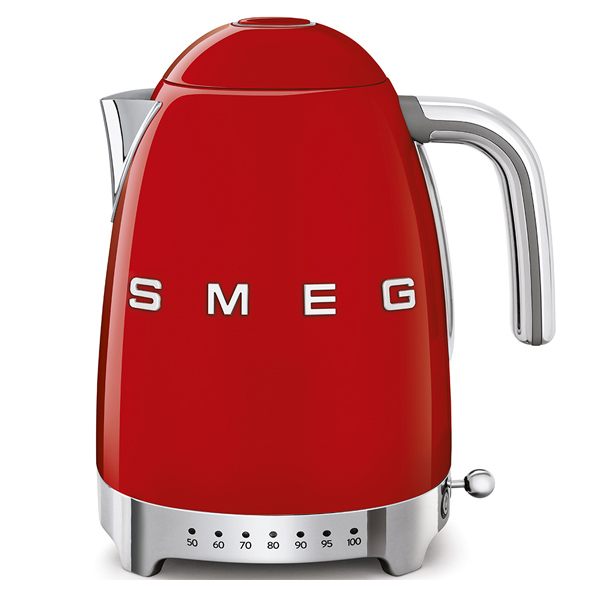 Smeg Kettle 1.7 Litres Variable Temperature Red (KLF04RDUK)