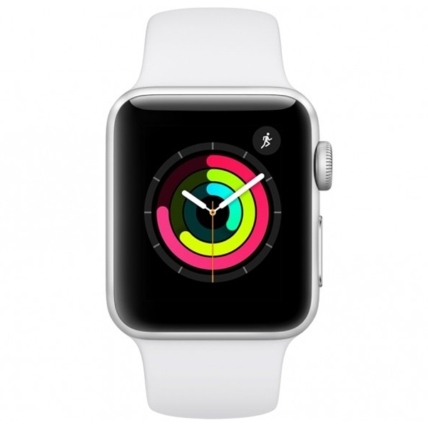 Apple Watch Series 3 GPS – 38mm Silver Aluminium Case with White Sports Band (MTEY2-EC)