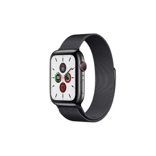 APPLE WATCH SERIES 5 GPS + CELLULAR, 44MM SPACE BLACK STAINLESS STEEL CASE WITH SPACE BLACK MILANESE LOOP (MWWL2AE/A)