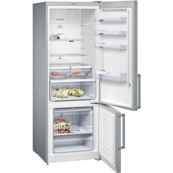 Siemens 559L iQ300 noFrost, Bottom freezer Door color Aluminium (KG56NVI30M)