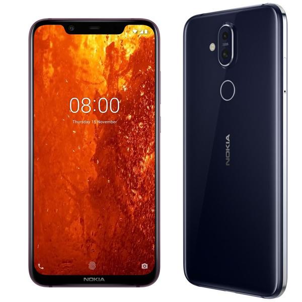 Nokia 8.1 Dual SIM - 64GB, 4GB RAM, 4G LTE, Blue Silver(NOKIA8-1-64GBSL)