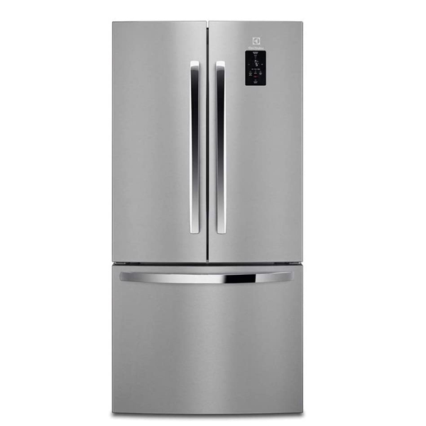 ELUX 524 L Frost Free, BLF, Built-in Ice Maker, three Door Refrigerator, Silver Finish ERD5250LOU